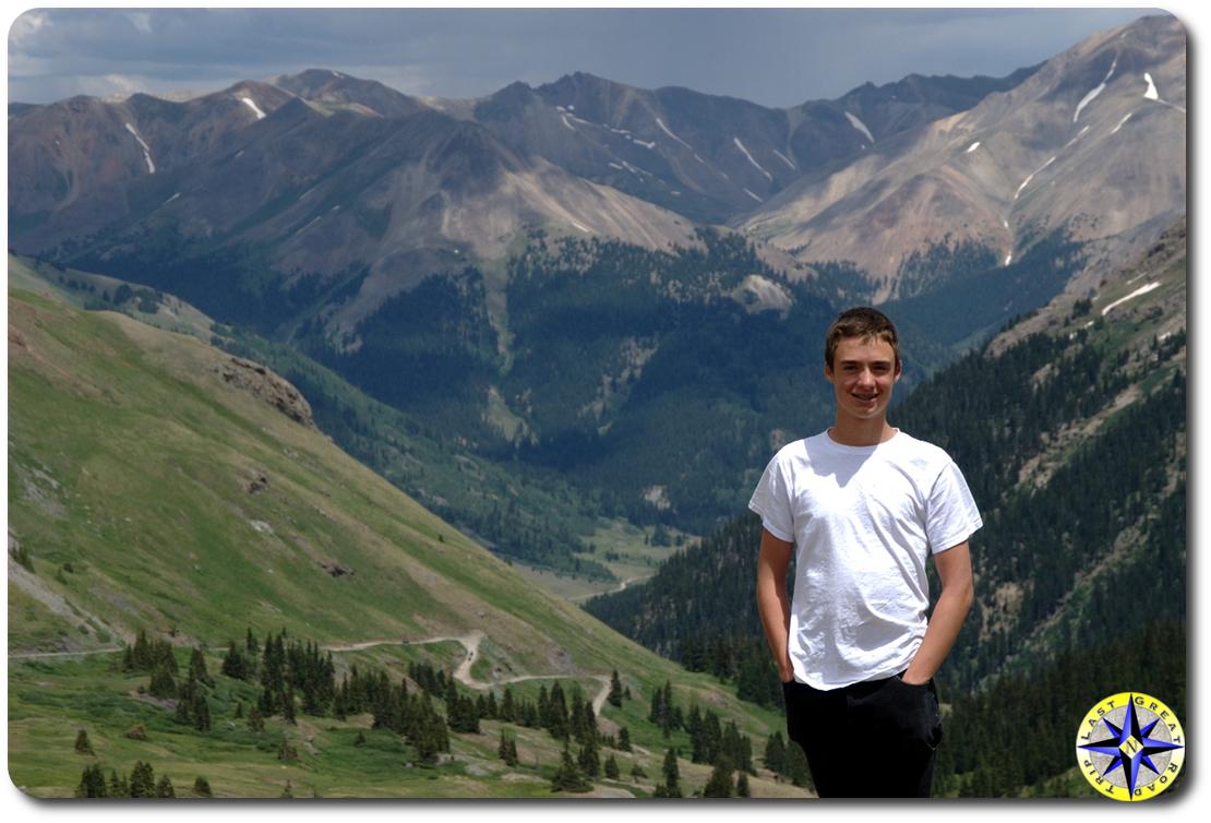 boy colorado mountains
