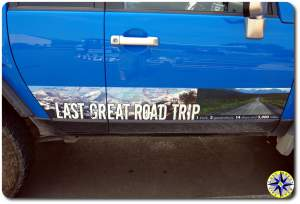 fj cruiser last great road trip sticker