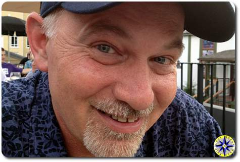 man smiling closeup