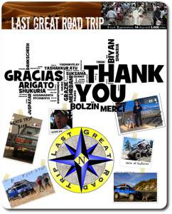 thank you from last great road trip