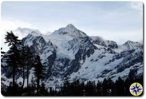 snow covered mount shuksan