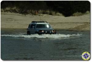 silver fj cruiser water crossing