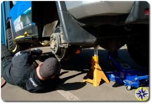 installing fj cruiser rear lower control arm