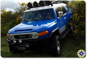 voodoo blue toyota fj cruiser metal tech front bumper
