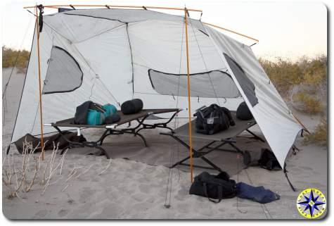 Bahia de los Angeles base camp tent