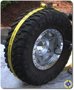 ratchet strap to set tire bead