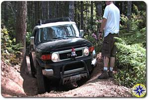 spotter black fj cruiser tahuya trail