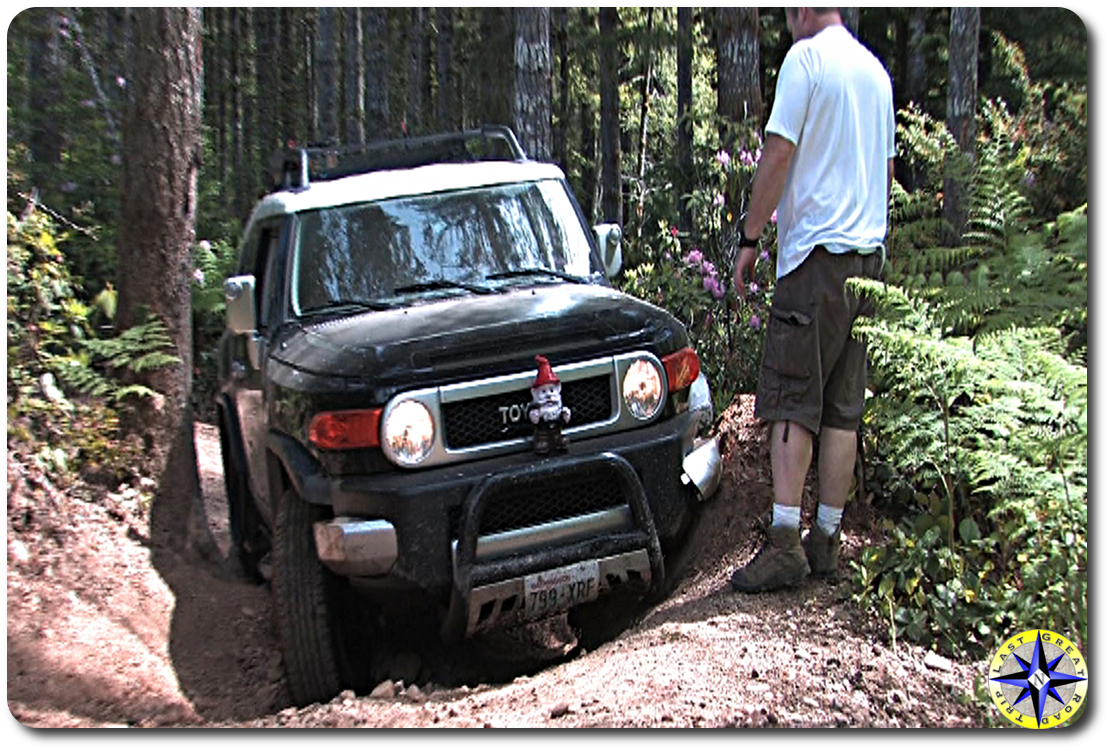 spotter black fj cruiser tahuya trail
