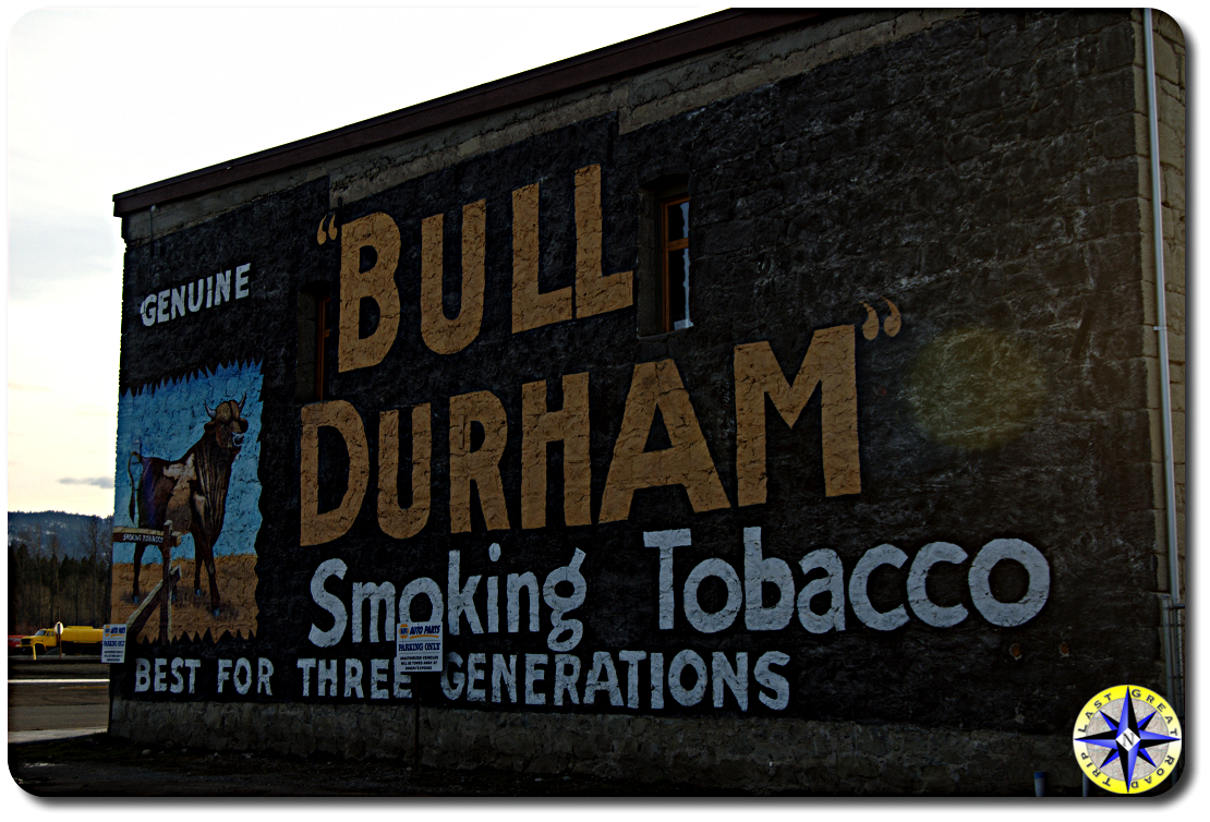 Bull Durham building sign art
