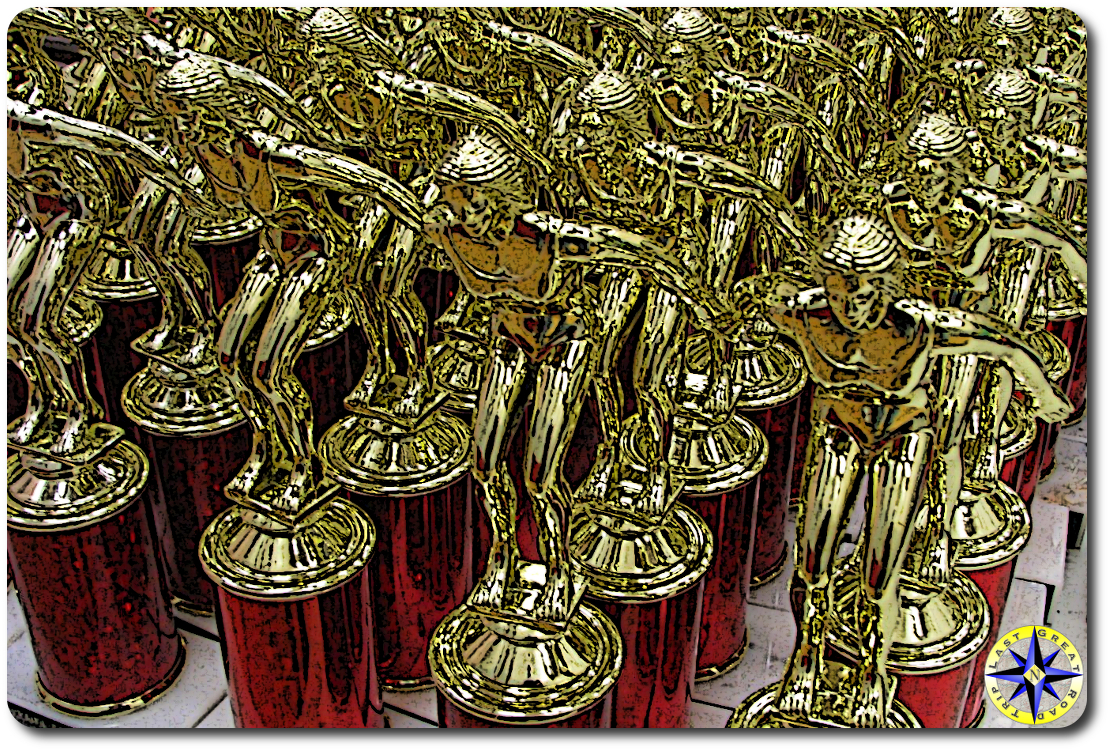 red trophies