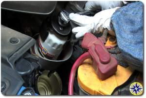 fj cruiser oil filter removal