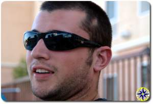 close up man face sunglasses - LT