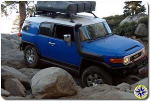 fj cruiser RTT boulders rubicon trail