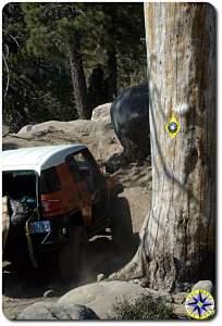 fj cruiser rubicon trail sign