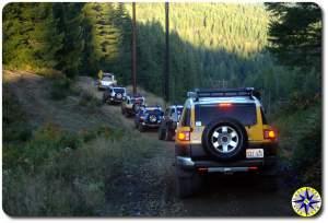 fj cruisers power Line tillamook forest