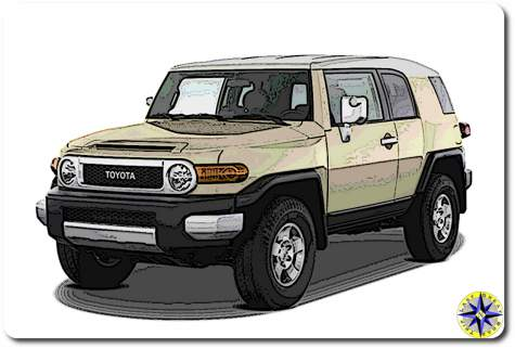 cartoon toyota fj cruiser