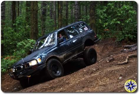 toyota fj80 tahuya forest 4x4 trail