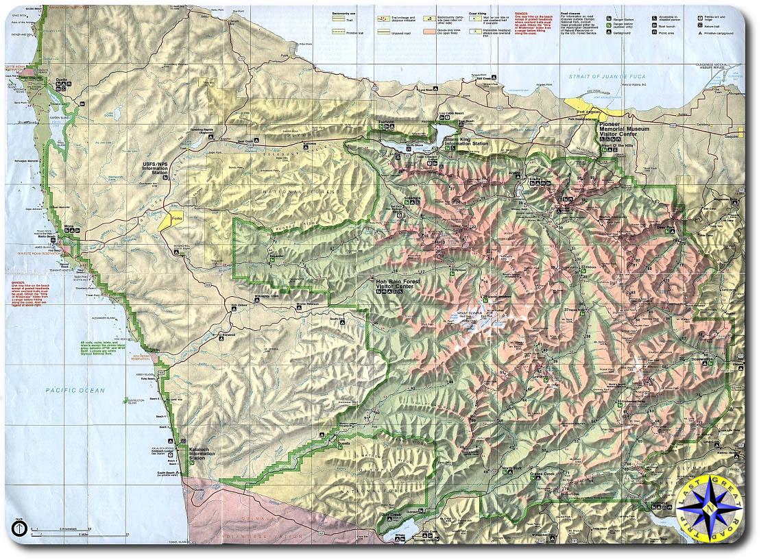 olympic peninsula map
