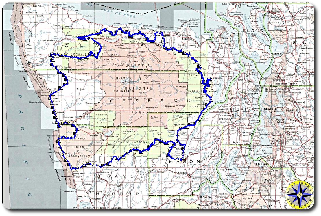 olympic peninsula trail map