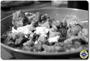 bowl chorizo sausage stew