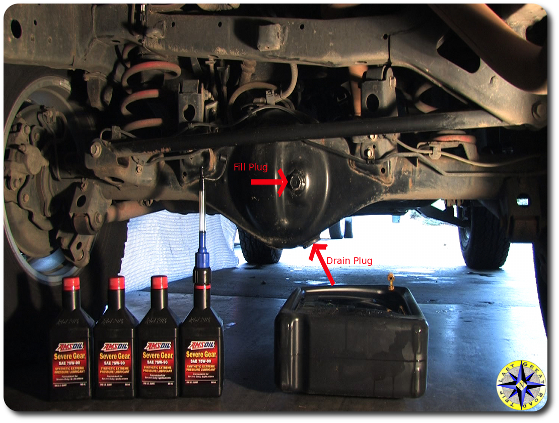 Step by Step FJ Cruiser Rear Differential Oil Change ...