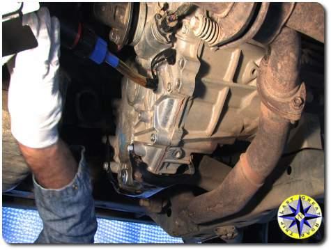 toyota fj cruiser transfer case oil filling