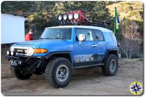 fj cruiser mikes sky rancho parking lot