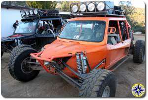 orange and black baja race buggies