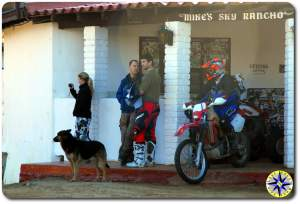 bikers in front of mikes sky rancho