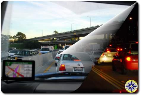 LA traffic day and night