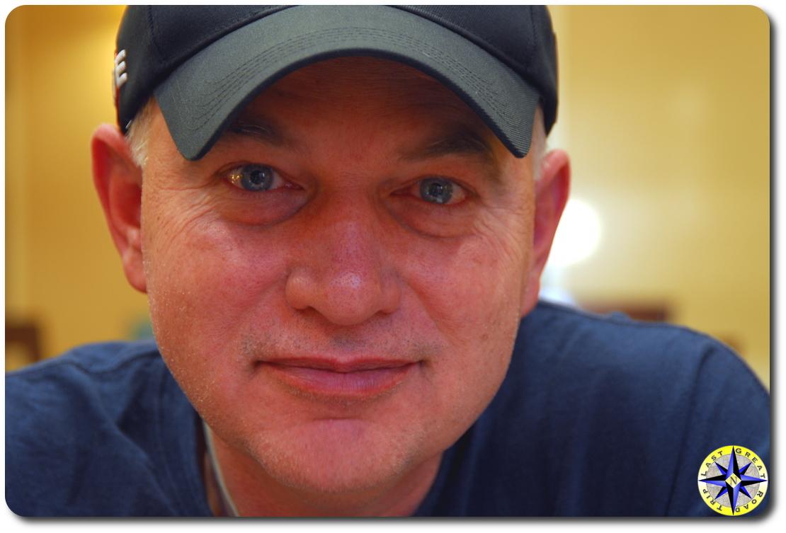 man hat closeup baja off road adventure navigator