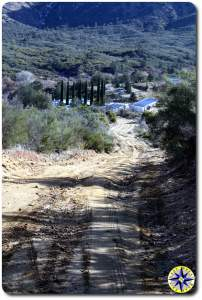 dirt road into mikes sky rancho
