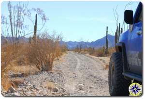 fj cruiser dirt road baja mexico mountains