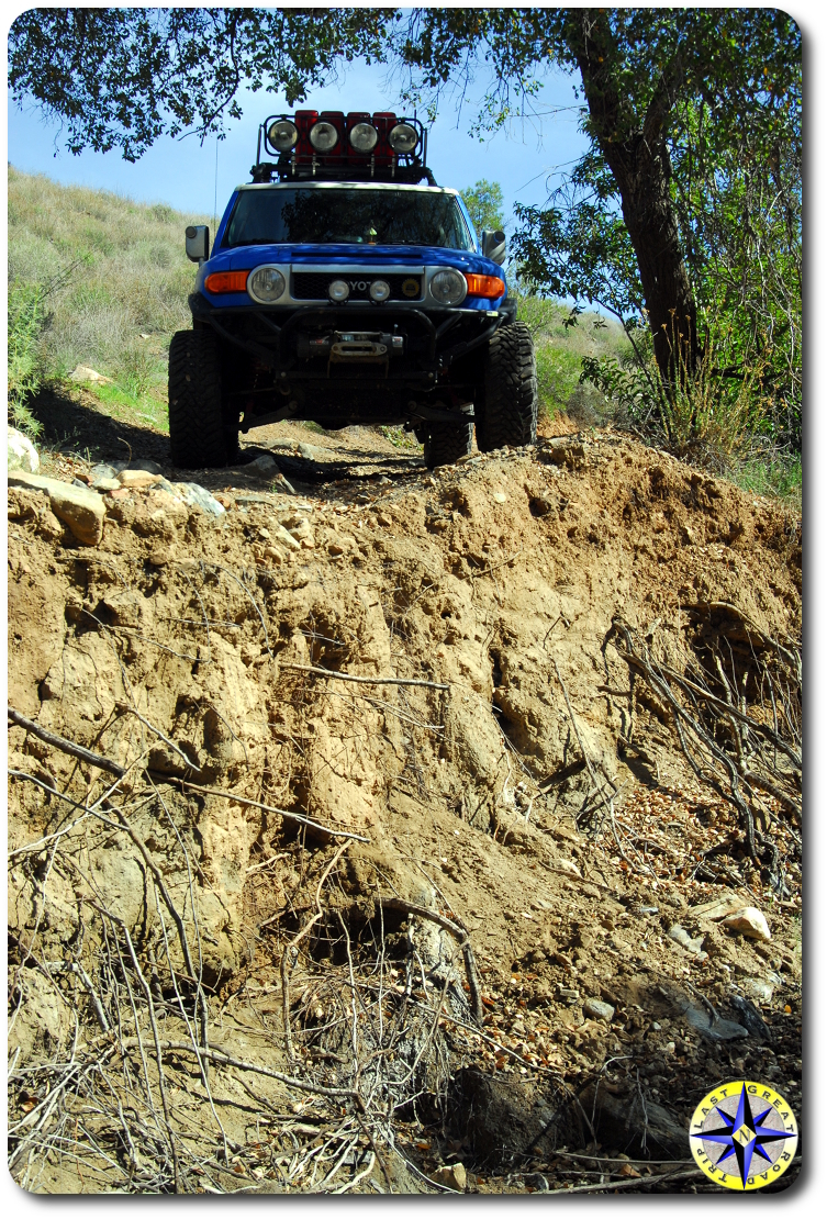 fj cruiser washed out road