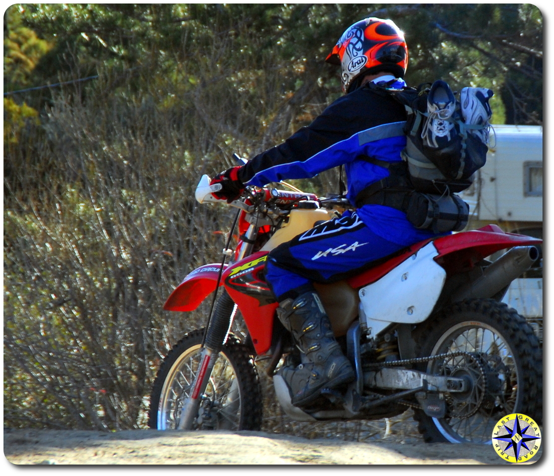 off road motorcycle rider
