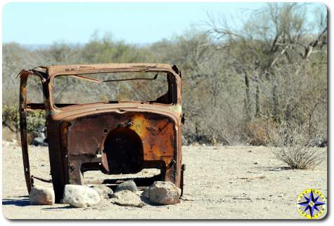 rusted old truck cab
