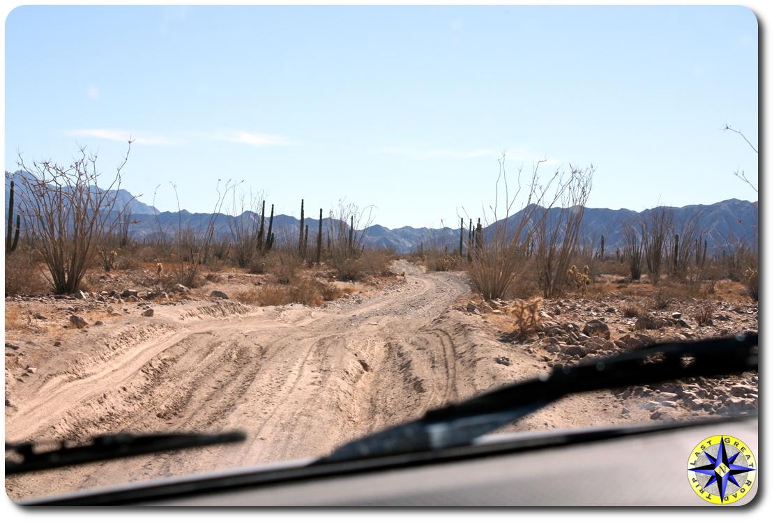 baja mexico mountains dirt road