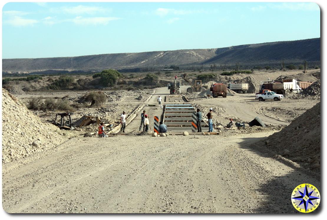 baja mexico bridge construction