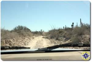 baja mexico dirt road view