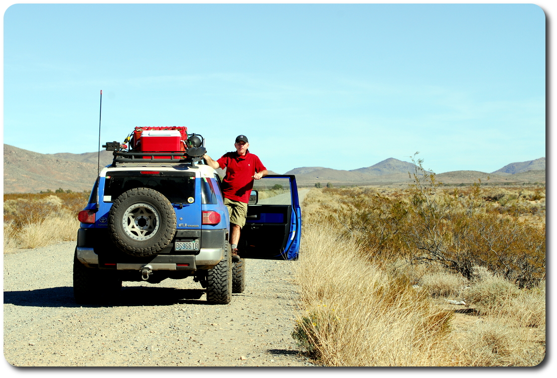 fj cruiser on Baja dirt road