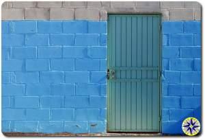 green door baja mexico cinder block chaple