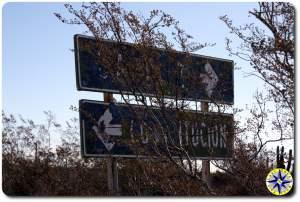 hidden baja mexico  road signs