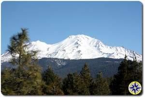 snow covered Mount Shasta