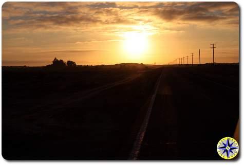 baja highway sunrise