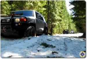 FJ cruiser in snow