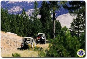 4x4 trail landrover D90 toyota FJ40