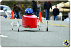 red soap box derby racer
