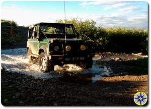 land rover d90 water crossing