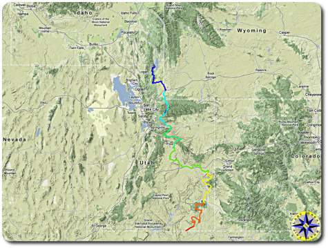 utah backroads discovery route map