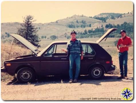 broken down Yellowstone road trip